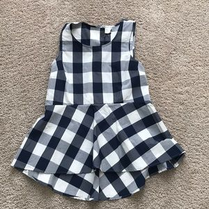 Anthropologie gingham peplum top